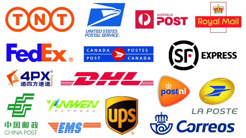 carriers TNT USPS Australia Post Royal Mail FedEx Canada Post SF Express 4px DHL postnl la poste China post YANWEN EMS UPS correos Deutsche Post supported by PayPal Tracking Autopilot for Shopify
